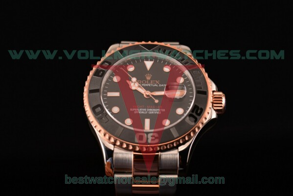 Rolex Yacht-Master Asia Automatic Black Dial With Rose Gold/Steel Case 116555