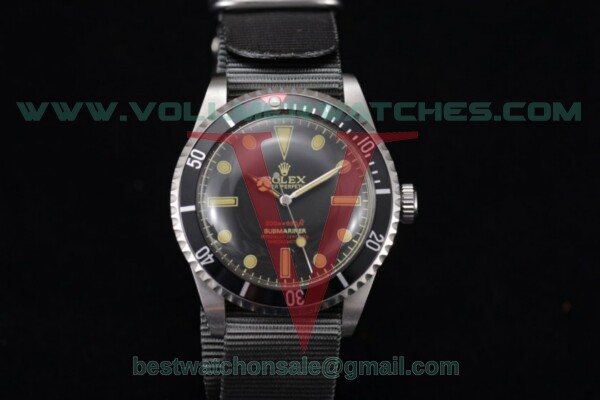 Rolex Submariner Vintage Officially Certified Chronometer 2813 Auto Black Dial With Steel Case 1665