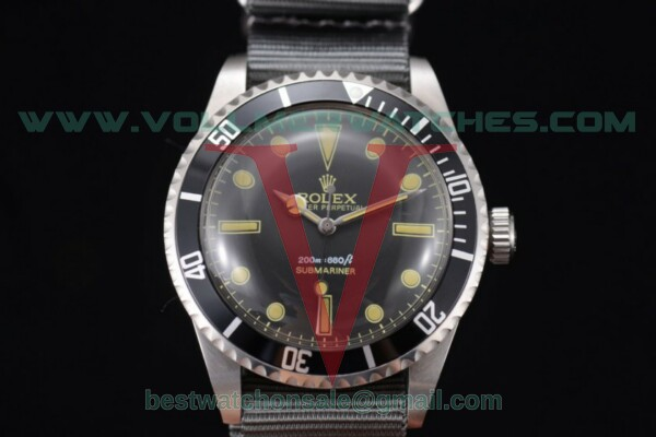 Rolex Submariner Vintage 2813 Auto Black Dial With Steel Case 5513 b