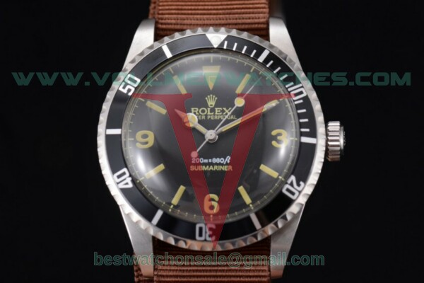 Rolex Submariner Vintage 2813 Auto Black Dial With Steel Case 5513