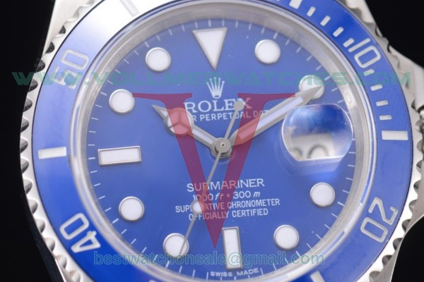 Rolex Submariner 2836 Auto Blue Dial With Steel Case 116619LB(BP)