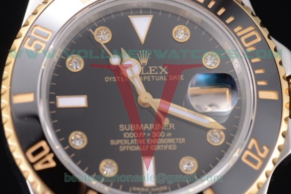 Rolex Submariner 2836 Auto Black Dial With Two Tone Case 116613 bkd(BP)