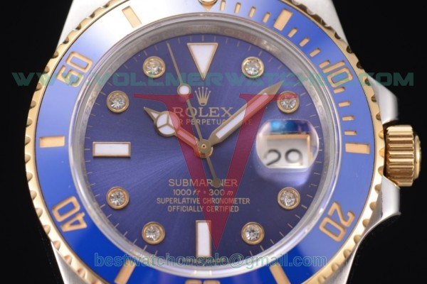 Rolex Submariner 2836 Auto Blue Dial With Two Tone Case 116613 blu(BP)