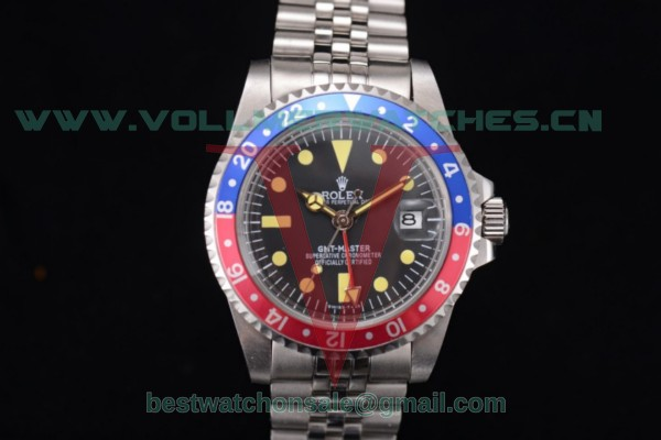 Rolex GMT-Master Vintage 2813 Auto Black Dial With Steel Case 16712