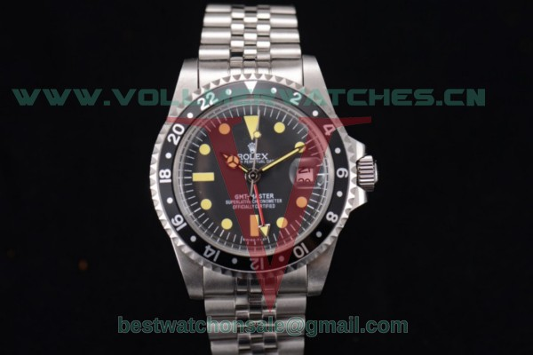 Rolex GMT-Master Vintage 2813 Auto Black Dial With Steel Case 1658001