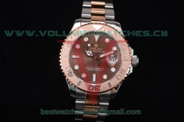 Rolex Yacht-Master 40 2813 Auto Brown Dial With Two Tone Case 116621
