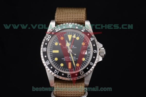 Rolex GMT-Master 2813 Auto Black Dial With Steel Case 11673007N