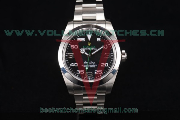 Rolex Oyster Perpetual Air-King Clone Rolex 3131 Auto Black Dial With Steel Case 116900(JF)