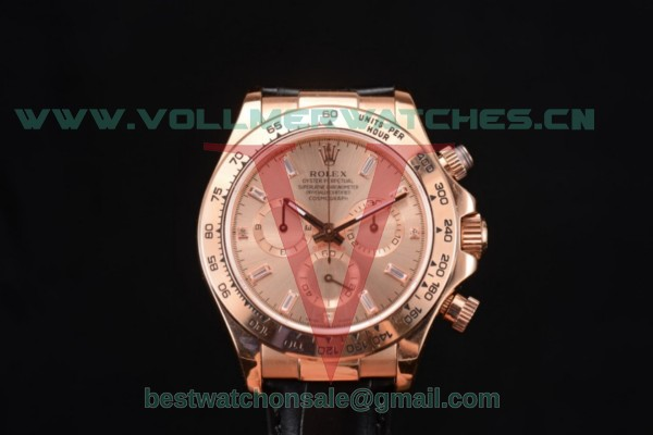 Rolex Cosmograph Daytona Chrono 7750 Auto Rose Gold Dial With Rose Gold Case 116505r(BP)