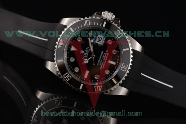Rolex Submariner ETA 2836 Auto Black Dial With Steel Case 116610LN bkrd