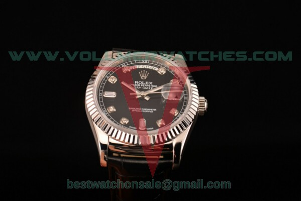 Rolex Day-Date 2813 Auto Black Dial with Steel Case 118239/39 bkdl (F22)