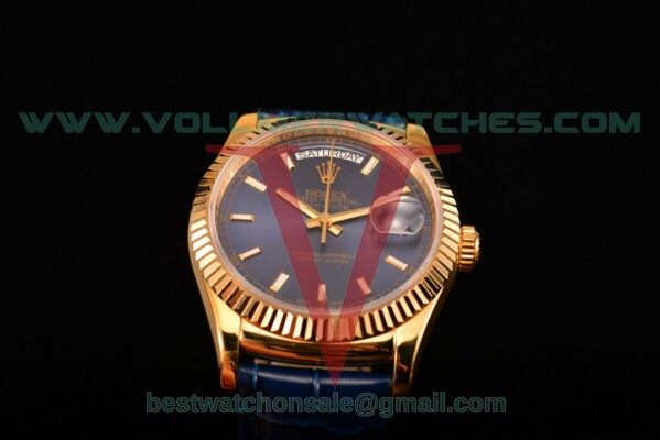 Rolex Day-Date 2813 Auto Blue Dial with Yellow Gold Case 118238/39 blsl