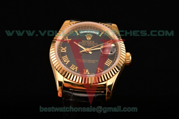 Rolex Day-Date 2813 Auto Black Dial with Yellow Gold Case 118238/39 bkrl