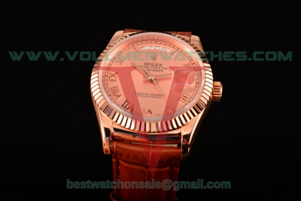 Rolex Day-Date 2813 Auto Rose Gold Dial with Rose Gold Case 118235/39 rgrl