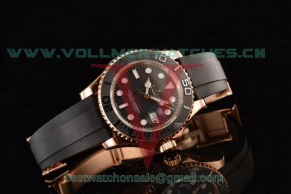 Rolex Yachtmaster 3135 Auto Black Dial With Rose Gold Case M116655-0001