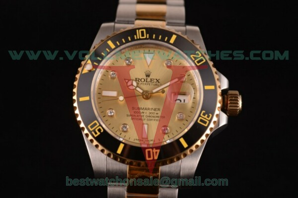 Rolex Submariner 2836 Auto Gold Dial with Yellow Gold/Steel Case 116613 LN