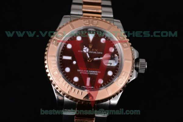 Rolex Yacht-Master 40 ETA 2836 Auto Brown Dial with Rose Gold Case 116621 (BP)