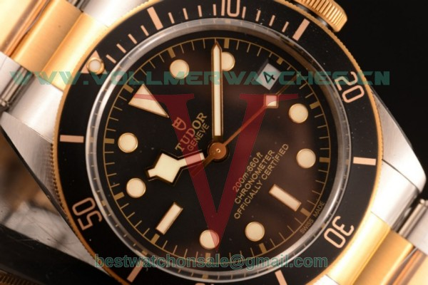 Tudor Heritage Black Bay 2824 Auto Black Dial with Two Tone Case 79730 (ZF)
