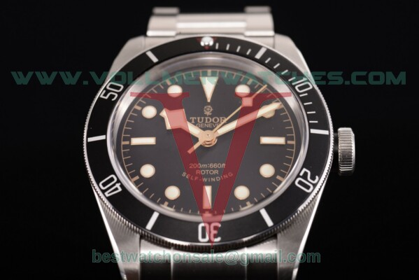 Tudor Heritage Black Bay ETA 2824 Auto Black Dial with Steel Case 79221B