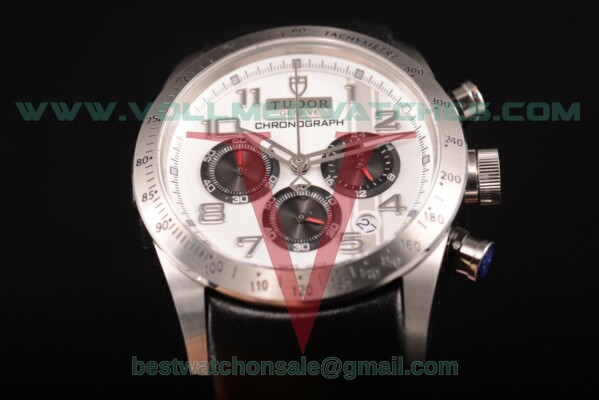 Tudor Fastrider Chrono Miyota OS20 Quartz White Dial with Steel Case 42000