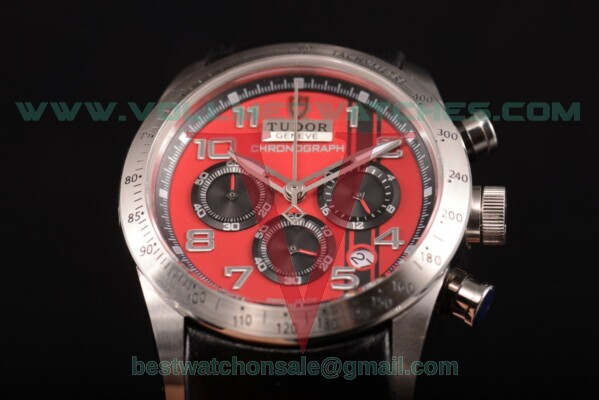 Tudor Fastrider Chrono Miyota OS20 Quartz Red Dial with Steel Case 42000D