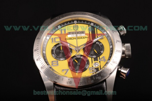 Tudor Fastrider Chrono Miyota OS20 Quartz Yellow Dial with Steel Case 42000T
