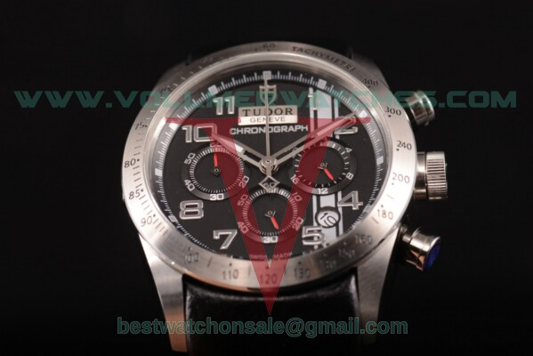 Tudor Fastrider Chrono Miyota OS20 Quartz Black Dial with Steel Case 42000B