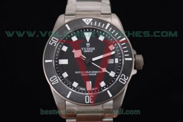 Tudor Pelagos 2824 Auto Black Dial with Titanium Case 25500TN - 1:1 (ZF)