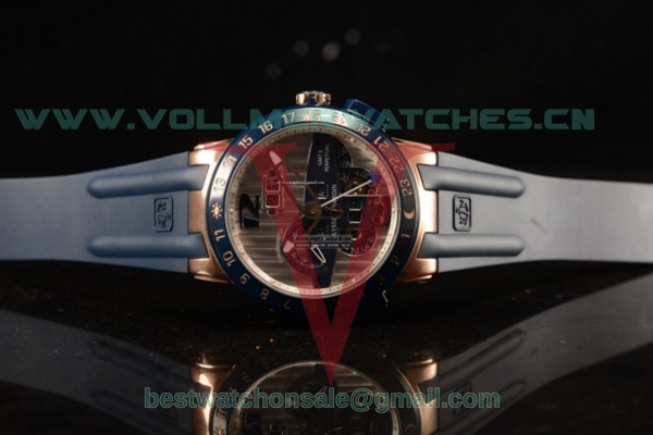 Ulysse Nardin Executive Dual Time & Big Date Japanese Miyota 9015 Auto Coffce Dial With Rose Gold Case 251-00/49(GF)