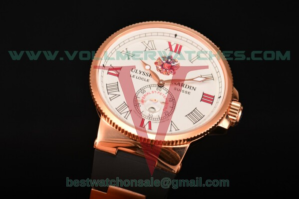 Ulysse Nardin Imperial St. Petersburg Maxi Marine Chronometer Enamel Limited Edition Asia Auto White Dial With Rose Gold Case UN-2736