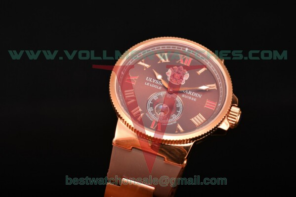 Ulysse Nardin Imperial St. Petersburg Maxi Marine Chronometer Enamel Limited Edition Asia Auto Brown Dial With Rose Gold Case UN-2737