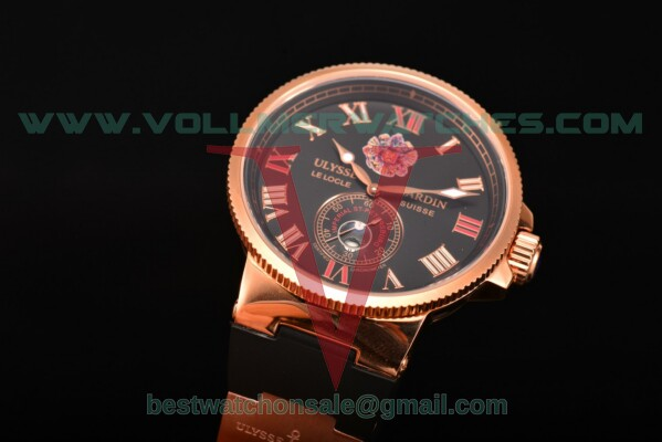 Ulysse Nardin Imperial St. Petersburg Maxi Marine Chronometer Enamel Limited Edition Asia Auto Black Dial with Rose Gold Case UN-2738
