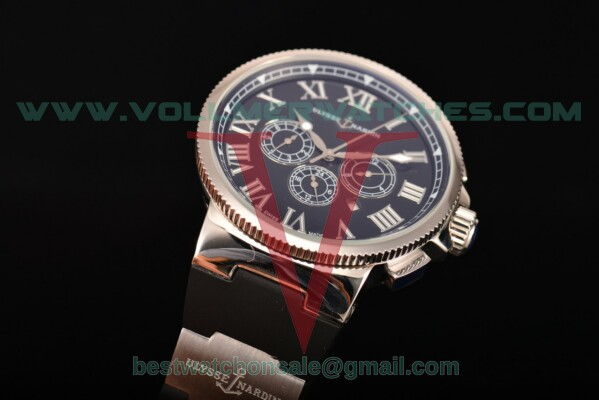 Ulysse Nardin Marine Chronograph Asia Auto Black Dial with Steel Case 1503-151-3/66