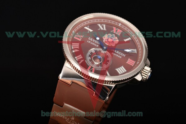 Ulysse Nardin Imperial St. Petersburg Maxi Marine Chronometer Enamel Limited Edition Asia Auto Brown Dial with Steel Case UN-2741