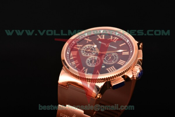 Ulysse Nardin Marine Chronograph Asia Auto Brown Dial with Rose Gold Case 1503-151-3/67