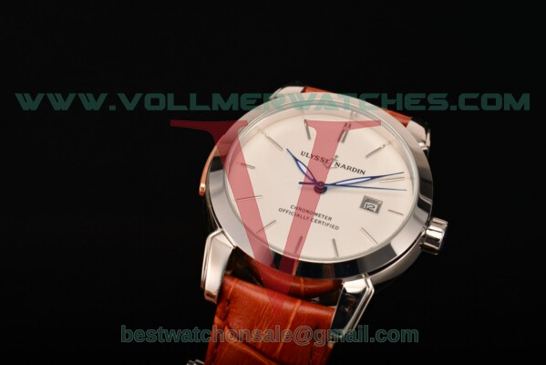 Ulysse Nardin Classico Automatic Asia Auto White Dial With Steel Case 8153-111-2/90