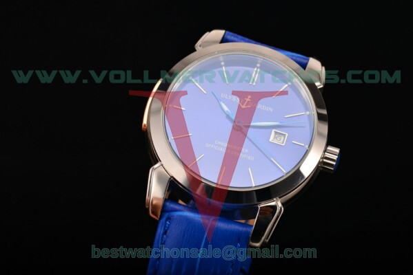 Ulysse Nardin Classico Automatic Asia Auto Blue Dial With Steel Case 8153-111-2/91