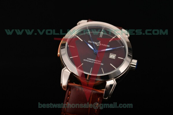 Ulysse Nardin Classico Automatic Asia Auto Brown Dial With Steel Case 8153-111-2/93