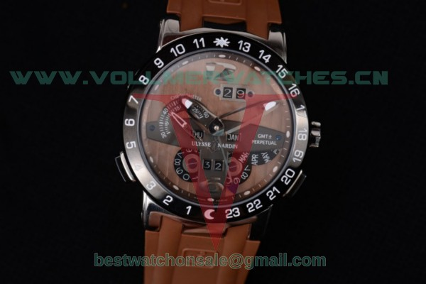 Ulysse Nardin Executive Dual Time & Big Date ST25 Auto Brown Dial With Steel Case 251-00/47