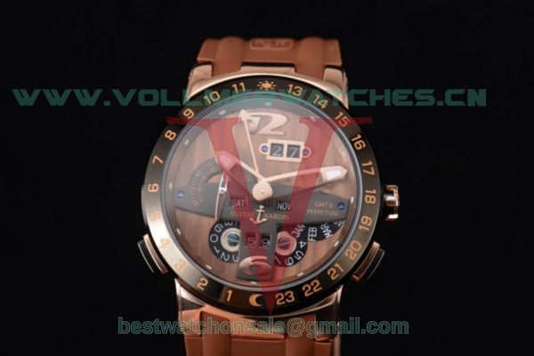 Ulysse Nardin Executive Dual Time & Big Date ST25 Auto Brown Dial With Rose Gold Case 251-00/49