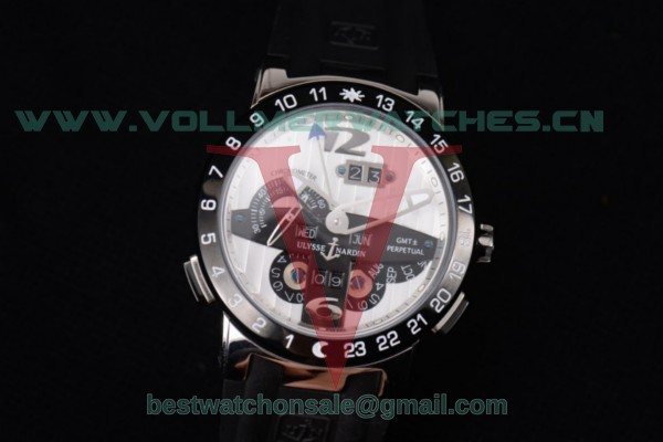 Ulysse Nardin Executive Dual Time & Big Date ST25 Auto White Dial With Steel Case 251-00/50