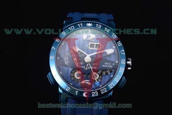 Ulysse Nardin Executive Dual Time & Big Date ST25 Auto Blue Dial With Steel Case 251-00/46