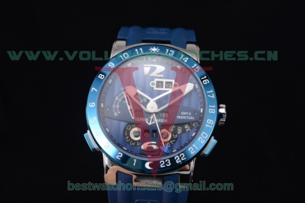 Ulysse Nardin Executive Dual Time & Big Date ST25 Auto Blue Dial With Steel Case 251-00/45