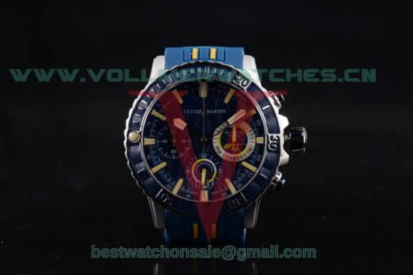 Ulysse Nardin Maxi Marine Diver Chrono Miyota OS20 Quartz Blue Dial With Steel Case 1503-151-3/92 BY