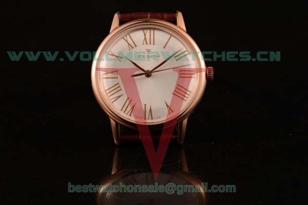 Zenith Vintage 9015 Auto White Dial with Rose Gold Case 4734923 (AAAF)