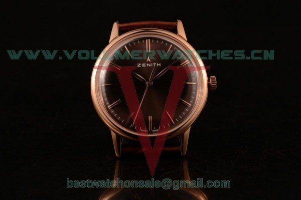 Zenith Vintage 9015 Auto Brown Dial with Rose Gold Case 4734924 (AAAF)