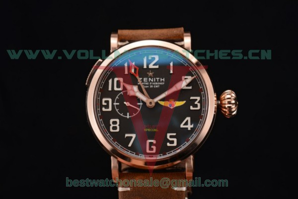 Zenith Pilot Type 20 GMT ST25 Auto Black Dial With Rose Gold Case 03.2430.693/21.C726