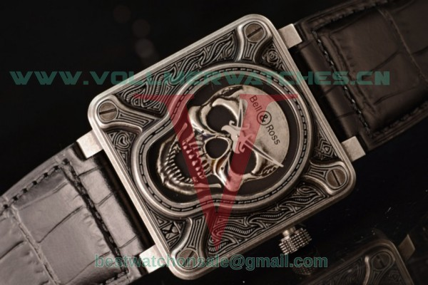 Bell & Ross BR 01-92 Burning Skull Asia Auto Skull Dial with Steel BR 01-92